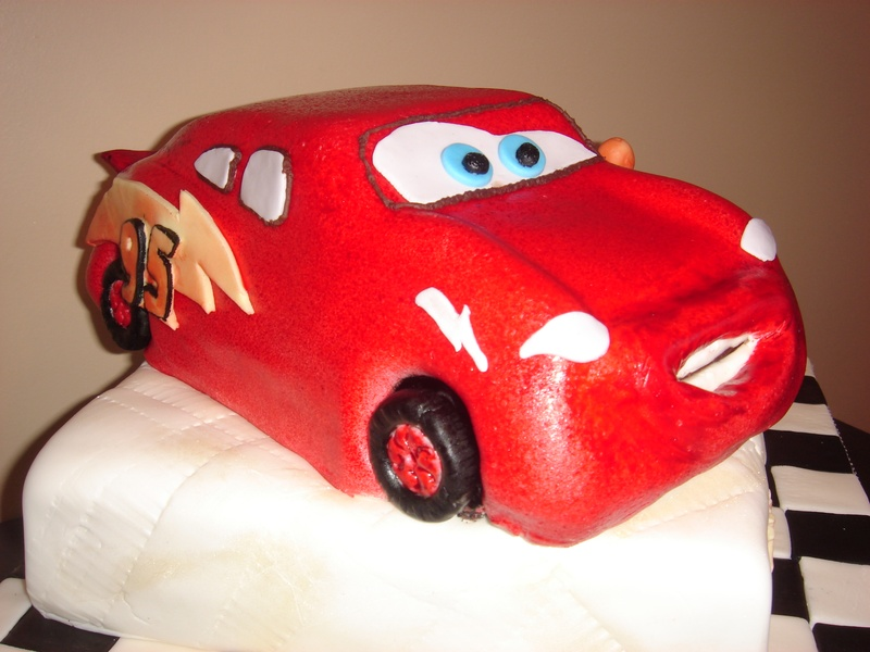 Pin Coloring Pages Lightning Mcqueen Coolest Cake Pinterest